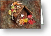 Little Bird Greeting Cards - Tweet Little Bird House Greeting Card by Andee Photography
