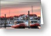 Coast Guard Greeting Cards - Twenty-four Seven  Greeting Card by JC Findley