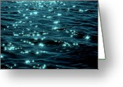 Debbie Johnson Greeting Cards - Twighlight on the Waters Greeting Card by Deborah  Crew-Johnson