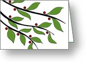 Tree Drawings Greeting Cards - Twigs Greeting Card by Frank Tschakert