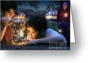 Kid Digital Art Greeting Cards - Twilight Greeting Card by Bryan Allen
