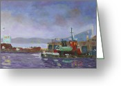 Clayton Painting Greeting Cards - Twilight French Creek Bay Greeting Card by Robert P Hedden