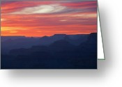 Silhouettes Greeting Cards - Twilight Grand Canyon Greeting Card by Dean Pennala