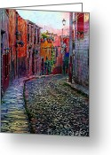 John Kolenberg Greeting Cards - Twilight In San Miguel De Allende Greeting Card by John  Kolenberg