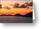 Van Dyke Greeting Cards - Twilight in the British Virgin Islands Greeting Card by Roupen  Baker