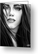 Kristen Stewart Greeting Cards - Twilight-Kristen Stewart Greeting Card by Lisa Pence