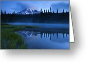 Cap Photo Greeting Cards - Twilight Majesty Greeting Card by Mike  Dawson