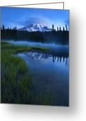 Twilight Greeting Cards - Twilight Mist Rising Greeting Card by Mike  Dawson