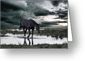 Flooding Photo Greeting Cards - Twilight Of The Gods Greeting Card by Joachim G Pinkawa