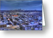 Kansas City Missouri Greeting Cards - Twilight on Strawberry Hill Greeting Card by Don Wolf
