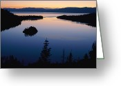 Bays Greeting Cards - Twilight Over Emerald Bay Greeting Card by Phil Schermeister