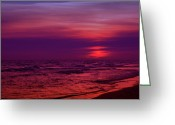 Panama City Beach Greeting Cards - Twilight Greeting Card by Sandy Keeton