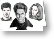 Celebrities Drawings Greeting Cards - Twilite Characters Greeting Card by Murphy Elliott