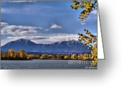 Spanish Peaks Greeting Cards - Twin peaks Greeting Card by Lena Sandoval-Stockley