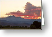 Meeker Greeting Cards - Twin Peaks Longs Meeker August Sunset Greeting Card by James Bo Insogna