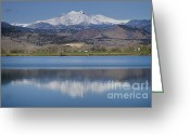 Snow Capped Photo Greeting Cards - Twin Peaks McCall Reservoir Reflection Greeting Card by James Bo Insogna