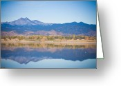 Colorado Framed Prints Greeting Cards - Twin Peaks Reflection Greeting Card by James Bo Insogna
