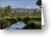 Golf Green Greeting Cards - Twin Peaks View Greeting Card by James Bo Insogna