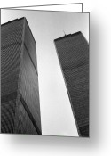 James Barnes Greeting Cards - Twin Towers Greeting Card by James Barnes