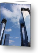 Twin Towers World Trade Center Greeting Cards - Twin Towers Greeting Card by Kristin Elmquist