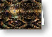 Twine Greeting Cards - Twine and Tortoise Shell Greeting Card by Ron Bissett