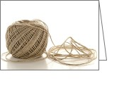 Twine Greeting Cards - Twine Greeting Card by Olivier Le Queinec