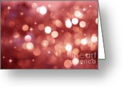 Shimmer Greeting Cards - Twinkle little stars Greeting Card by Sandra Cunningham