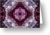 Boho Greeting Cards - Twisted Color 04 Greeting Card by Mercury McCutcheon
