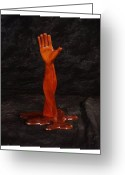 Bright Sculpture Greeting Cards - Twisted Hand for You Greeting Card by Steve Weber