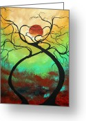 Color Image Painting Greeting Cards - Twisting Love II Original Painting by MADART Greeting Card by Megan Duncanson
