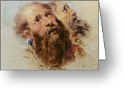 Rubens Painting Greeting Cards - Two Apostles Greeting Card by Rubens