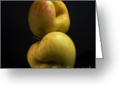 Nourishment Greeting Cards - Two apples Greeting Card by Bernard Jaubert
