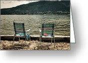 Beach Towel Greeting Cards - Two Chairs Greeting Card by Joana Kruse