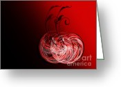 Awe Inspiring Greeting Cards - Two Cheery Cherries Greeting Card by Andee Photography