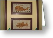 The Doors Mixed Media Greeting Cards - Two Dead Fish Greeting Card by Robert Margetts