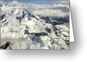 Mountain Peaks Greeting Cards - Two Ea-6b Prowlers Fly In Formation Greeting Card by Stocktrek Images
