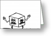 Two Face Greeting Cards - Two Face Box Greeting Card by Karl Addison