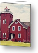 Minnesota Greeting Cards - Two Harbors Lighthouse Greeting Card by Pam  Holdsworth