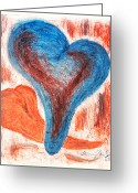 Relationship Pastels Greeting Cards - Two Hearts Affair Greeting Card by Keenan  McNealy