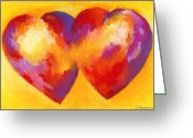 Intimacy Greeting Cards - Two Hearts Beat As One Greeting Card by Stephen Anderson