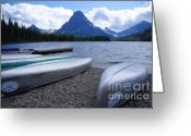 Glacier Greeting Cards - Two Medicine Lake Greeting Card by Idaho Scenic Images Linda Lantzy