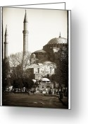 Minarets Greeting Cards - Two Minarets Greeting Card by John Rizzuto