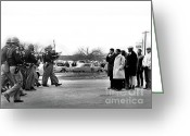 Civil Rights Greeting Cards - Two Minute Warning Greeting Card by Spider Martin