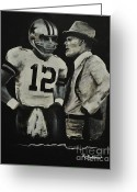 Dallas Cowboys Painting Greeting Cards - Two of the Greastest Minds in Pro-Football Greeting Card by Robert Ballance