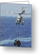 Puma Greeting Cards - Two Sa-330 Puma Helicopters Deliver Greeting Card by Stocktrek Images