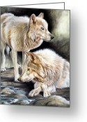 Airbrush Greeting Cards - Two Greeting Card by Sandi Baker