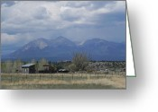 Adrienne Petterson Greeting Cards - Two Sheds in Colorado Greeting Card by Adrienne Petterson