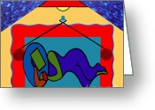 Color Nudes Greeting Cards - Two Sides Greeting Card by Patrick J Murphy