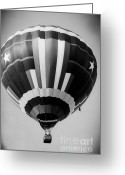Hot Air Balloon Mixed Media Greeting Cards - Two Star Balloon Greeting Card by Kim Henderson