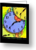 Clocks Greeting Cards - Two Thirty-seven Greeting Card by Mike McGlothlen